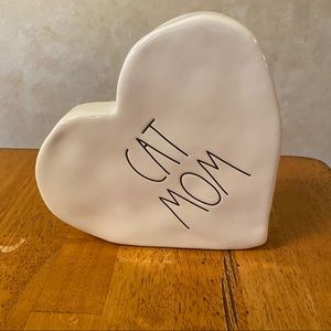 Rae Dunn CAT MOM Heart Shaped Sign